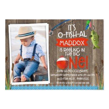 its o-fish-al photo1st birthday invitations for boy