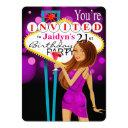 jaidyn las vegas 21st birthday party purple invitations
