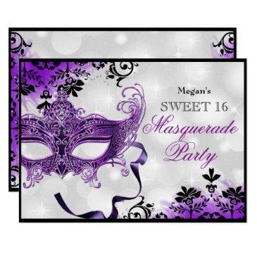 Masquerade Birthday Invitations