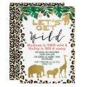 joint safari let's get wild birthday invitation