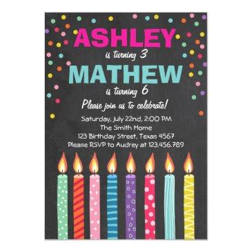 joint twin birthday party invitations twins dual