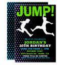 jump and play bounce birthday invitation