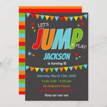 jump birthday party invitation, jump invitation