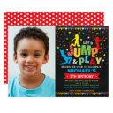 jump birthday party trampoline bounce house invitation