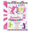 jump bounce house trampoline birthday invitations