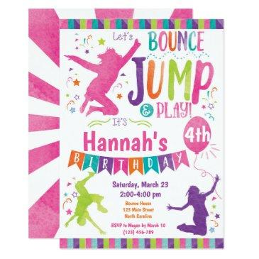 jump bounce house trampoline birthday invitation