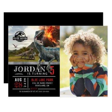 jurassic world | dinosaur birthday with photo invitations
