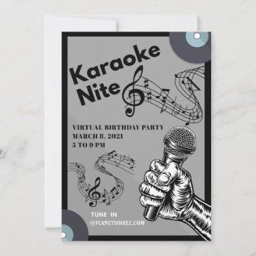 karaoke nite birthday invitation