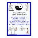 karate birthday invitation