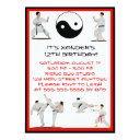 karate birthday invitations