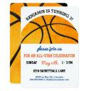 kids basketball birthday party sports themed cute invitation