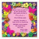 kids birthday party: my secret garden invitation