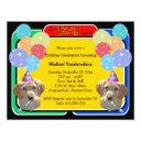 labradoodle puppy birthday barker invitation