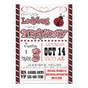 ladybug 3rd birthday invitations