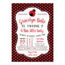ladybug birthday party invitation, little lady invitation