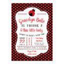 ladybug birthday party invitations, little lady invitations