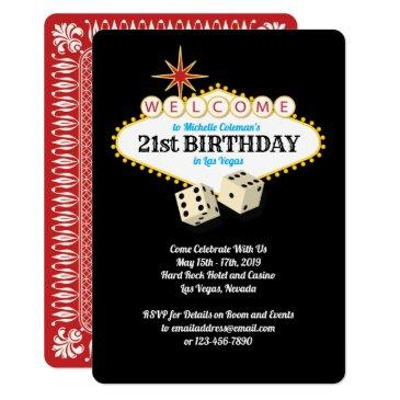 las vegas marquee birthday party invitations