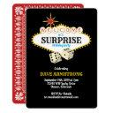 las vegas marquee surprise birthday party invitations