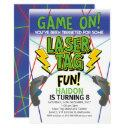 laser tag birthday invitations