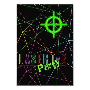 laser tag birthday invite