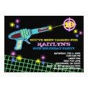 laser tag custom birthday party invitations girl
