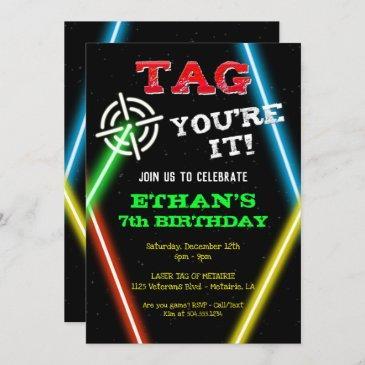 laser tag invitations, laser tag birthday invitation