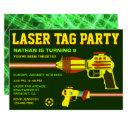 laser tag kids birthday party invitation