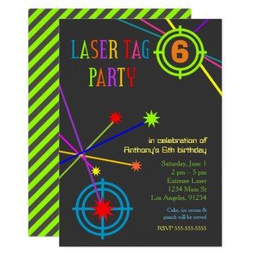 laser tag party birthday invitation