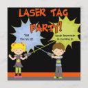 laser tag party birthday invitations
