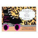 leopard cheetah roller skate skating invitation