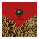 leopard jewel red all occasion party invitation