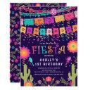 let's fiesta kids birthday party invitation