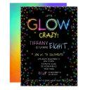 let's glow crazy birthday party invitation