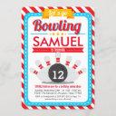 let's go bowling birthday party invitation