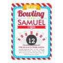 let's go bowling birthday party invitations