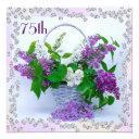 lilacs & diamonds 75th birthday invitation