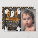 little boo! halloween 2nd birthday photo invitation
