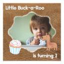 little buckaroo second birthday picture invitations