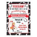 little cowgirl birthday party invitation