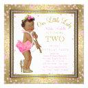 little lady girls 2nd birthday party ethnic girl invitation