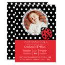 little ladybug birthday invitations