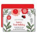 little ladybug girls birthday party invitations