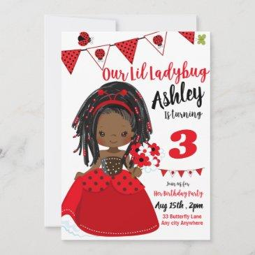 little ladybug | summer birthday | spring invite
