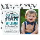 little man 1st birthday invitations mustache party