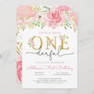 little miss onederful first birthday invitation