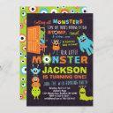 little monster 1st birthday invitation boys