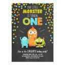 little monster birthday party invitations chalk