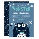 little monster kids birthday party invitation