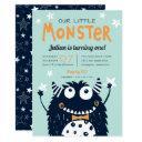 little monster kids birthday party invitation