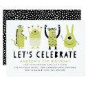 little monsters | birthday party invitations